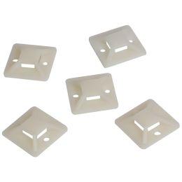 LogiLink Kabelbinderhalterungen, 19 x 19 mm, natur