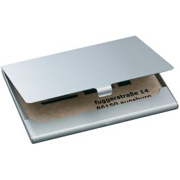 sigel Visitenkarten-Etui Alu, Aluminium, silber, matt
