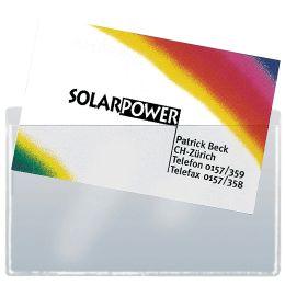 sigel Visitenkarten-Taschen, aus PP, selbstklebend, glasklar