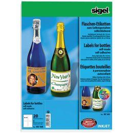 sigel Inkjet Flaschen-Etiketten, 80 x 120 mm, 85 g/qm