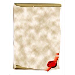 sigel Design-Papier, DIN A4, 185 g/qm, Motiv Urkundenrolle