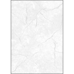 sigel Struktur-Papier, A4, 200 g/qm, Edelkarton, Granit blau
