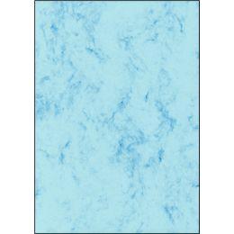 sigel Marmor-Papier, A4, 90 g/qm, Feinpapier, blau