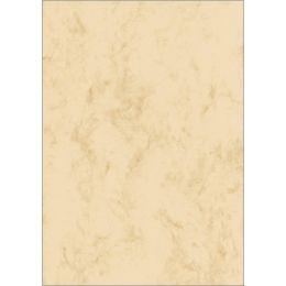 sigel Marmor-Papier, A4, 90 g/qm, Feinpapier, sandbraun