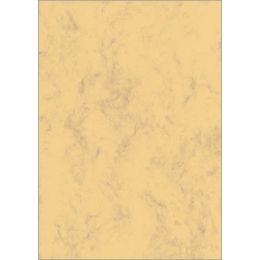 sigel Marmor-Papier, A4, 200 g/qm, Edelkarton, sandbraun