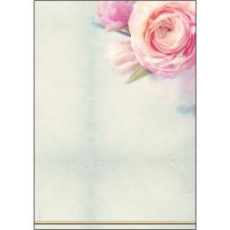 sigel Design-Papier, DIN A4, 90 g/qm, Motiv Rose Bloom