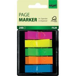 sigel Haftstreifen Z-Marker Film Mini Neon, 12 x 45 mm