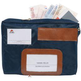 ALBA Banktasche POCSOUGM mit Dehnfalte, aus Nylon, blau
