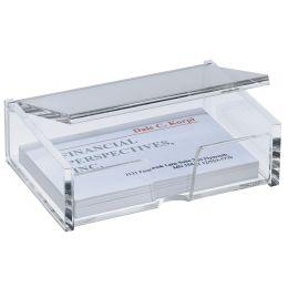 sigel Visitenkarten-Box, Acryl, glasklar, mit Deckel