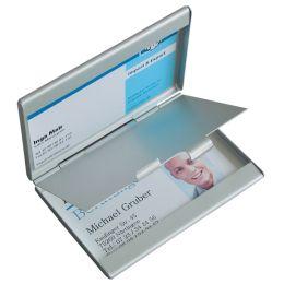 sigel Visitenkarten-Etui Twin, Aluminium, silber, matt