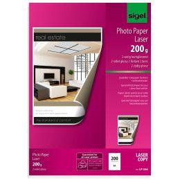sigel Foto-Papier, DIN A4, 135 g/qm, 2-seitig glossy