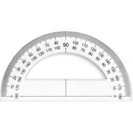 Wonday Halb-Winkelmesser 180 Grad, 120 mm, aus Kunstoff