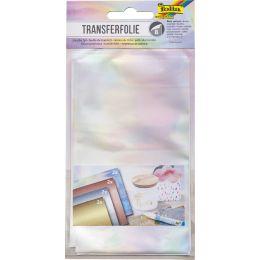 folia Transferfolie, 90 x 160 mm, 8 Blatt, farbig sortiert