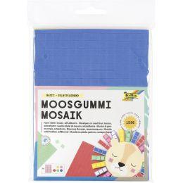 folia Moosgummi-Mosaik Basic, selbstklebend, 1.596 Teile