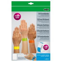 sigel Eventbänder Super Soft, reißfest, neon grün
