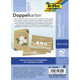 folia Doppelkarten, 105 x 150 mm, 220 g/qm, natronbraun