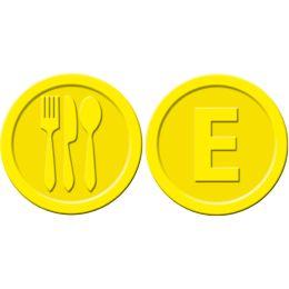 sigel Wertmarken Essen, aus Kunststoff, gelb