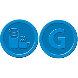 sigel Wertmarken Getränke, aus Kunststoff, blau
