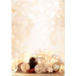 sigel Weihnachts-Motiv-Papier Zimtsterne, A4, 90 g/qm