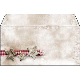 sigel Weihnachts-Umschlag Winter Chalet, DIN lang, 90 g/qm