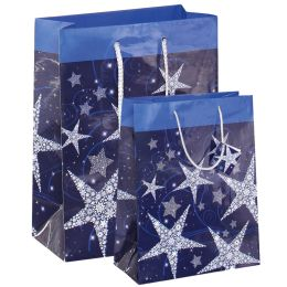 sigel Weihnachts-Geschenktüte Shining Stars