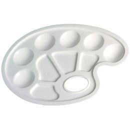 herlitz Farbmisch-Palette, aus Kunststoff, oval, weiß