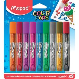 Maped Glitzerkleber COLORPEPS, 9 x 10,5 ml, Blisterkarte