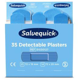 CEDERROTH Salvequick Pflaster-Nachfüllpackung, detektierbar