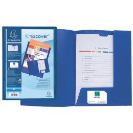 "EXACOMPTA Pr""sentationsmappe Kreacover, PP, A4, blau"