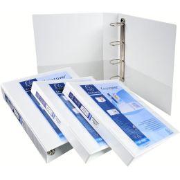 EXACOMPTA Präsentations-Ringbuch, A4, weiß, 4D-Ring
