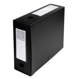 EXACOMPTA Archivbox mit Druckknopf, PP, 100 mm, schwarz