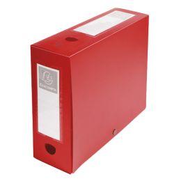 EXACOMPTA Archivbox mit Druckknopf, PP, 100 mm, rot
