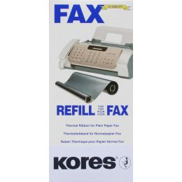 Kores Thermotransferrolle für brother Fax T72, 74, schwarz