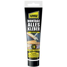 """UHU Montage Alleskleber, l""""semittelfrei, 165 g Tube, weiá"""