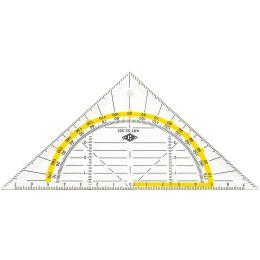WEDO Geodreieck, flexibel, Hypotenuse 160 mm, transparent