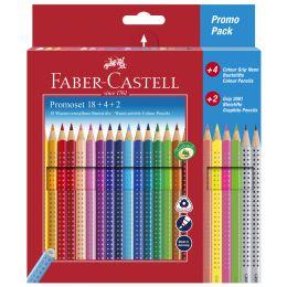 FABER-CASTELL Dreikant-Buntstifte Colour GRIP, Promoetui