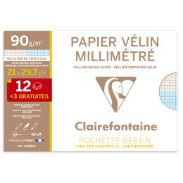 Clairefontaine Millimeterpapier, DIN A4, Aktionspack