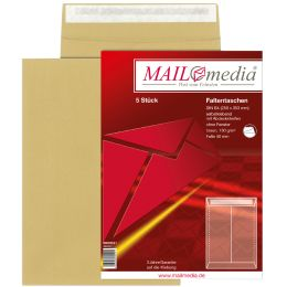 MAILmedia Faltenversandtasche mit Haftklebestreifen, B4