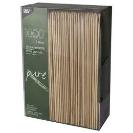PAPSTAR Schaschlikspieße pure, aus Bambus, Länge: 200 mm
