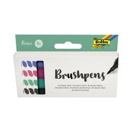 folia Pinselstift Brush Pens Basic, 4er Set