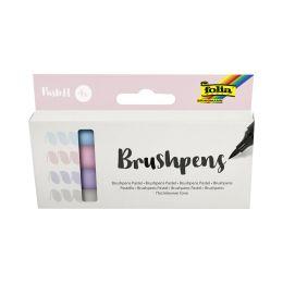 folia Pinselstift Brush Pens Pastell, 4er Set
