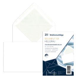 MAILmedia Briefumschlag Offset weiß mit Seidenfutter, C6