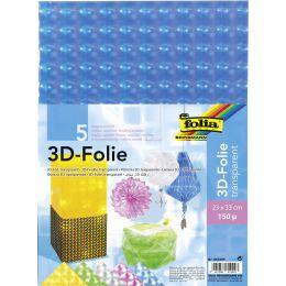 folia 3D-Folie, Stärke: 150 my, 230 x 330 mm, sortiert
