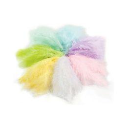 folia Flauschfedern, 100 g, Pastellfarben