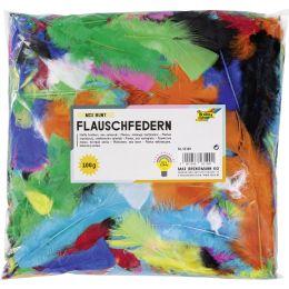 folia Flauschfedern, 100 g, farbig sortiert