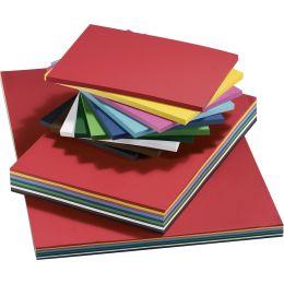 folia Tonkarton, DIN A4, 160 g/qm, glatt, farbig sortiert