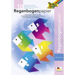 folia Regenbogenpapiermappe, 225 x 320 mm, 100 g/qm