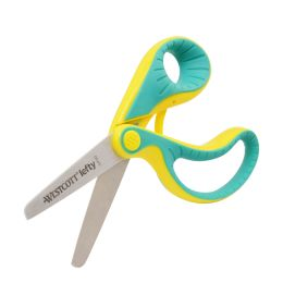 WESTCOTT Bastelschere Softgrip ergo junior, grün/gelb