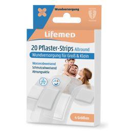 Lifemed Pflaster-Strips Allround, halbtransparent, 20er