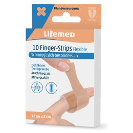 Lifemed Finger-Strips Flexible, hautfarben, 10er